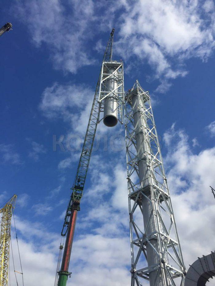 Дымовая труба 64 метра производство и монтаж Котлогаз